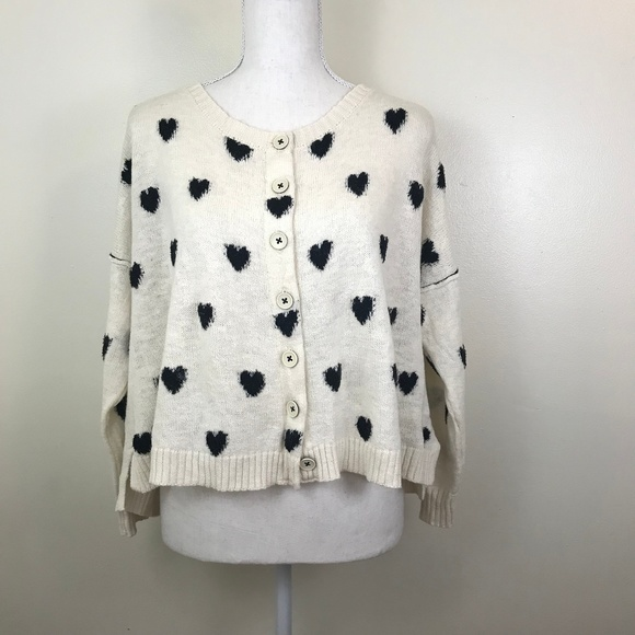 Anthropologie Sweaters - Anthropologie Moth Oversized Heart Cardigan